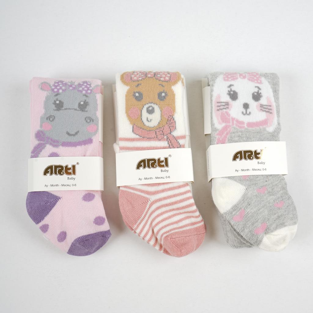 Hippo Kız Bebek Külotlu Çorap - Thumbnail